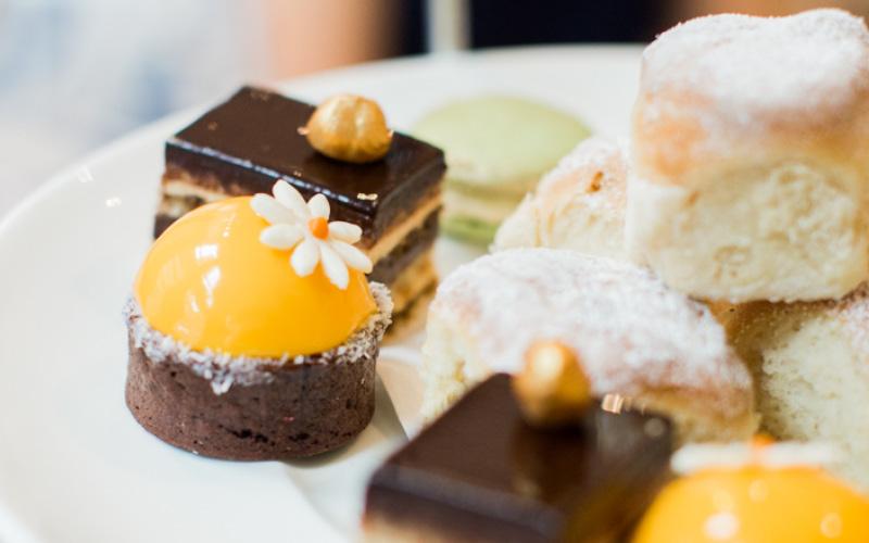 Deserts on high tea table