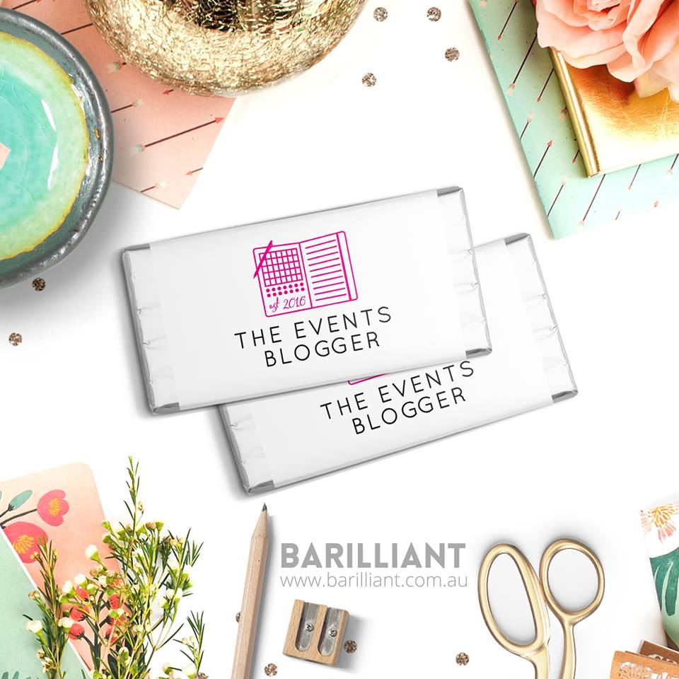 the events blogger barilliant party favours invitations wedding theme watercolour branding placecards chocolate bonbonieres